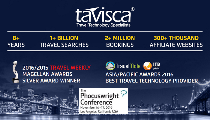 Tavisca Solutions, Travel Technology Company, Travel Event, Phocuswright USA 2016, Travel Solutions provider, Travel Products Provider, Hotel Normalization
